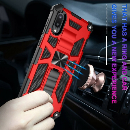 For Samsung A02/M02 Phone Case Rugged Armor Magnetic Cover